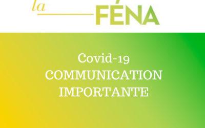 Covid-19 COMMUNICATION IMPORTANTE