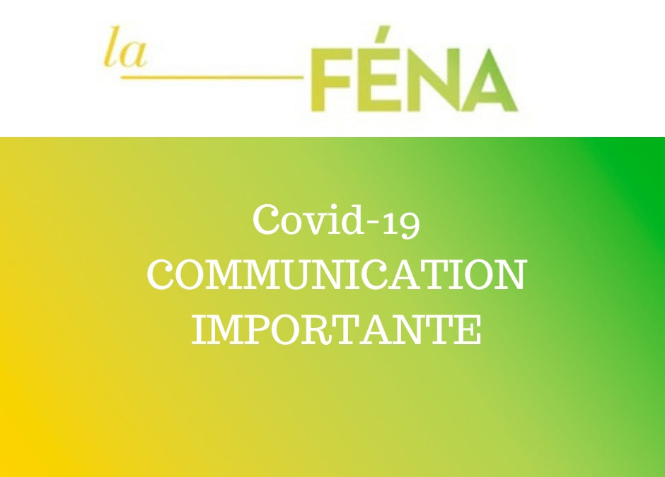 Covid-19 COMMUNICATION IMPORTANTE